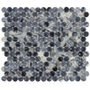 Elida Ceramica Gelato Rounds Penny Round Mosaic Glass Wall Tile (Common: 12-in x 12-in; Actual: 12.45-in x 10.85-in)