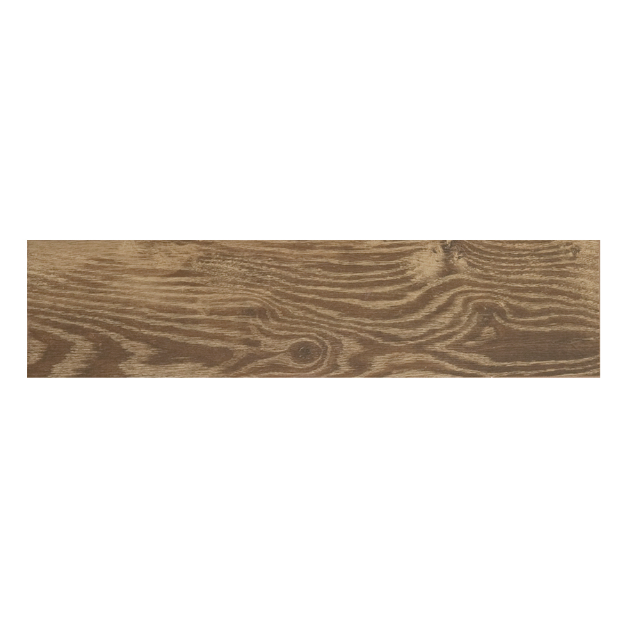 Natural Timber Cinnamon Glazed Porcelain Indoor Outdoor Floor Tile