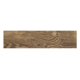 Style Selections Natural Timber Cinnamon Porcelain Floor and Wall Tile (Common: 6-in x 24-in; Actual: 5.79-in x 23.7-in)