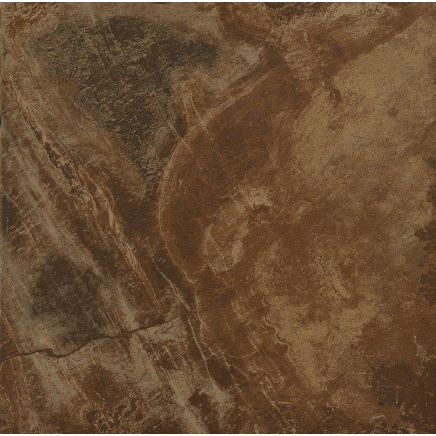 Shop stonepeak ceramics inc 18 in x 18 in aspen caramel glazed porcelain floor tile at - Lowes floor tiles porcelain ...