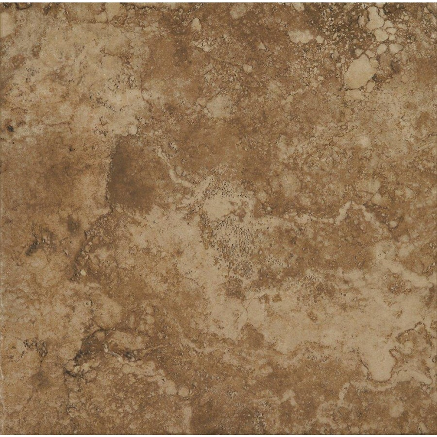 Shop stonepeak ceramics inc 18 in x 18 in durango noce glazed porcelain floor tile at - Lowes floor tiles porcelain ...