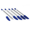 5-Pack Clear Blue Ball Point Pens