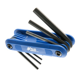 Blue Hawk 8-Piece Folding Flat End Hex Key Set