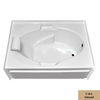 Laurel Mountain Everson V 60-in L x 42-in W x 21.5-in H Acrylic 1-Person-Person Oval In Rectangle Alcove Air Bath