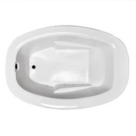 Laurel Mountain Trade Drop In II 71.75-in L x 41.5-in W x 23-in H White Oval Air Bath