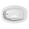 Laurel Mountain Trade Drop In Ii 71.75-in L x 41.5-in W x 23-in H Acrylic 1-Person-Person Oval Drop-in Air Bath