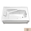 Laurel Mountain Whirlpools 71-3/4-in L x 35-3/4-in W x 21-1/2-in H Colony Mercer VI Bone Rectangular Skirted Whirlpool Tub and Air Bath
