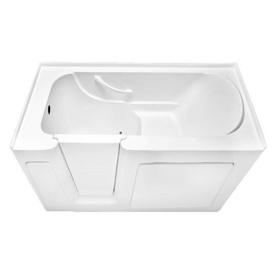 Shop Laurel Mountain Colony White Acrylic Rectangular Walk In Bathtub With Le