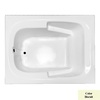 Laurel Mountain Large Plus 60-in L x 48-in W x 23-in H Acrylic 1-Person-Person Rectangular Drop-in Air Bath