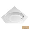 Laurel Mountain Vandale 59.25-in L x 59.25-in W x 25.25-in H Acrylic Corner Whirlpool Tub and Air Bath