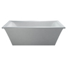 Laurel Mountain Chester White Acrylic Rectangular Pedestal Bathtub with Front Center Drain (Common: 30-in x 67-in; Actual: 24.25-in x 29.5-in x 66.375-in)