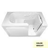 Laurel Mountain Westmont Gelcoat/Fiberglass Rectangular Walk-in Bathtub with Right-Hand Drain (Common: 30-in x 60-in; Actual: 38-in x 30-in x 60-in
