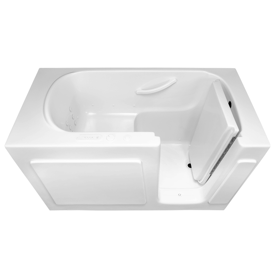 Shop Laurel Mountain Westmont 54 In L X 30 In W X 38 In H White Gelcoat And F