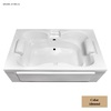 Laurel Mountain Seneca I 60-in L x 42-in W x 23-in H Almond Acrylic 2-Person-Person Rectangular Skirted Air Bath