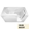 Laurel Mountain Westmont Alcove or Corner Gelcoat/Fiberglass Rectangular Walk-in Bathtub with Right-Hand Drain (Common: 30-in x 60-in; Actual: 38-in x 30-in x 60-in