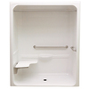 Laurel Mountain Toone Low Zero Threshold White Acrylic One-Piece Shower (Common: 32-in x 60-in; Actual: 82.875-in x 30.25-in x 64.5-in)