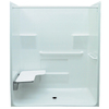 Laurel Mountain Vanleer Low Zero Threshold White Gelcoat and Fiberglass One-Piece Shower (Common: 34-in x 60-in; Actual: 78.75-in x 34-in x 63-in)