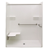 Laurel Mountain Whitwell Low Zero Threshold- Barrier Free White Gelcoat/Fiberglass One-Piece Shower (Common: 32-in x 60-in; Actual: 78.75-in x 33-in x 62-in)