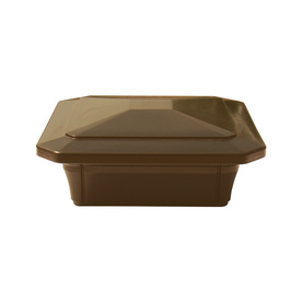 Fiberon HomeSelect Brown Composite Deck Post Cap (Fits Common Post Measurement: 4-in x 4-in; Actual: 6-in x 6-in x 6-in)