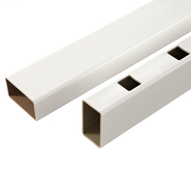 Fiberon HomeSelect 2-Pack White Composite Deck Handrails Common: 8-ft; Actual: 3.5-in x 4-in x 8-ft)