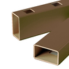 Severe Weather Brown Composite Deck Railing (Common: 3.5-in x 4-in x 8.020-ft; Actual: 3.5-in x 4-in x 8.020-ft)