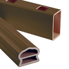 Severe Weather Brown Composite Deck Railing (Common: 3.5-in x 4.25-in x 6.041-ft; Actual: 3.5-in x 4.25-in x 6.041-ft)