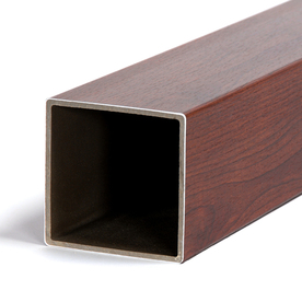 Fiberon HomeSelect Mahogany Composite Deck Post Sleeve (Fits Common Post Measurement: 4-in x 4-in; Actual: 4.1-in x 4.1-in x 48-in)
