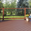 Fiberon HomeSelect 2-Pack Mahogany Composite Deck Handrails (Common: x 6-ft; Actual: 3.5-in x 4-in x 6-ft)