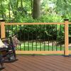 Fiberon HomeSelect 2-Pack Redwood Composite Deck Handrails (Common: x 6-ft; Actual: 3.5-in x 4-in x 6-ft)