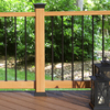 Fiberon Redwood Composite Deck Post Sleeve (Common: 4 x 4; Actual: 4.1-in x 4.1-in)
