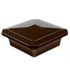 Fiberon HomeSelect Chestnut Brown PVC Deck Post Cap (Fits Common Post Measurement: 4-in x 4-in; Actual: 6-in x 6-in x 2.4-in)