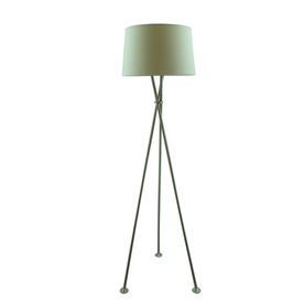 Style Selections 59.75-in Brushed Nickel Indoor Floor Lamp with Fabric Shade