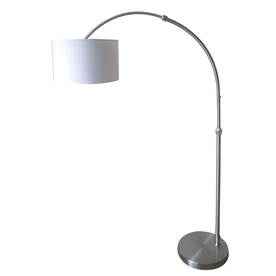 Shop Style Selections 74-in Brushed Nickel Indoor Floor Lamp with