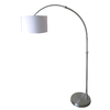 Style Selections 74-in Brushed Nickel Floor Lamp with White Shade