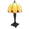 Portfolio 21-in Dark Brass Tiffany Style Table Lamp with Amber Shade