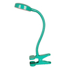 Style Selections 12-in Adjustable Green LED Clip-On Desk Lamp with Metal Shade