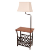Style Selections 54-in 3-Way Oil Rubbed Bronze Casual/Transitional Standard Furniture Lamp with Fabric Shade