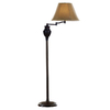 allen + roth 58-in 3-Way Oil-Rubbed Bronze Finish Indoor Floor Lamp with Fabric Shade