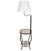 Style Selections 54-in 3-Way Aged Bronze Casual/Transitional Standard Furniture Lamp with Fabric Shade