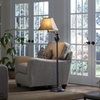 allen + roth 58-in Oil-Rubbed Bronze Finish Standard Shaded Indoor Floor Lamp with Fabric Shade
