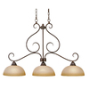 14-1/2-in Collette 3-Light Peppercorn Bronze Island Light