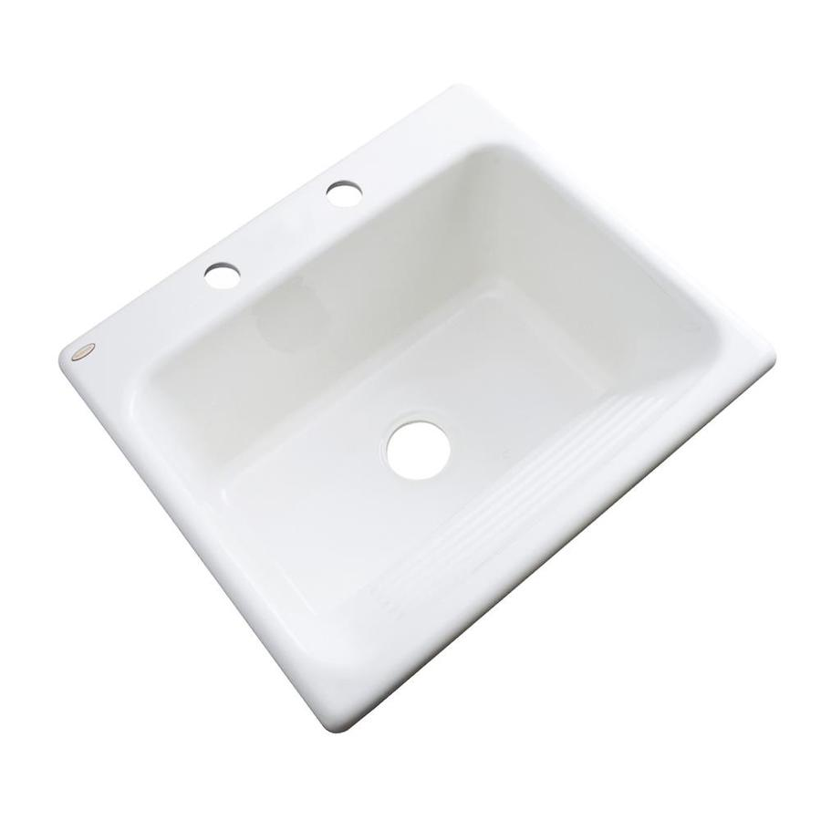 Drop In Laundry Tub : Shop Dekor White Acrylic Drop-in Laundry Sink at Lowes.com