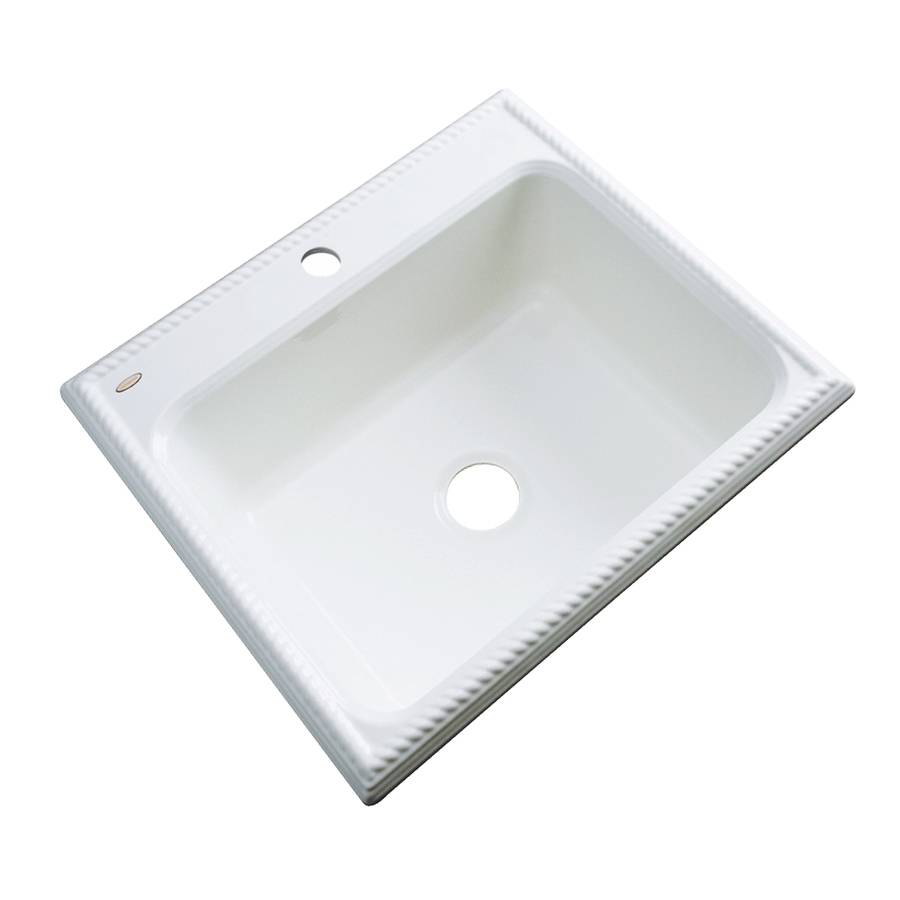 Shop Dekor Master White Single-Basin Acrylic Drop-In Kitchen Sink at ...