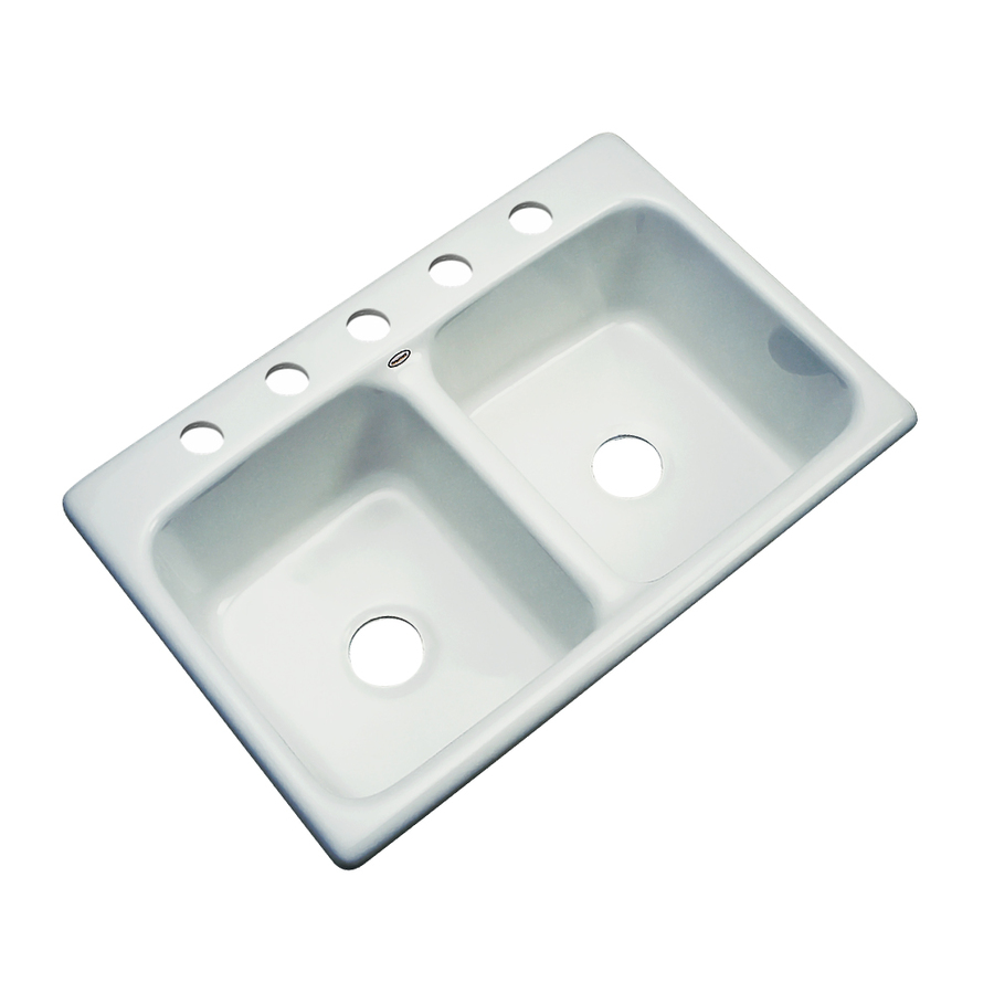 Drop In Kitchen Sinks Double Bowl : ... out zoom in dekor master double basin drop in acrylic kitchen sink