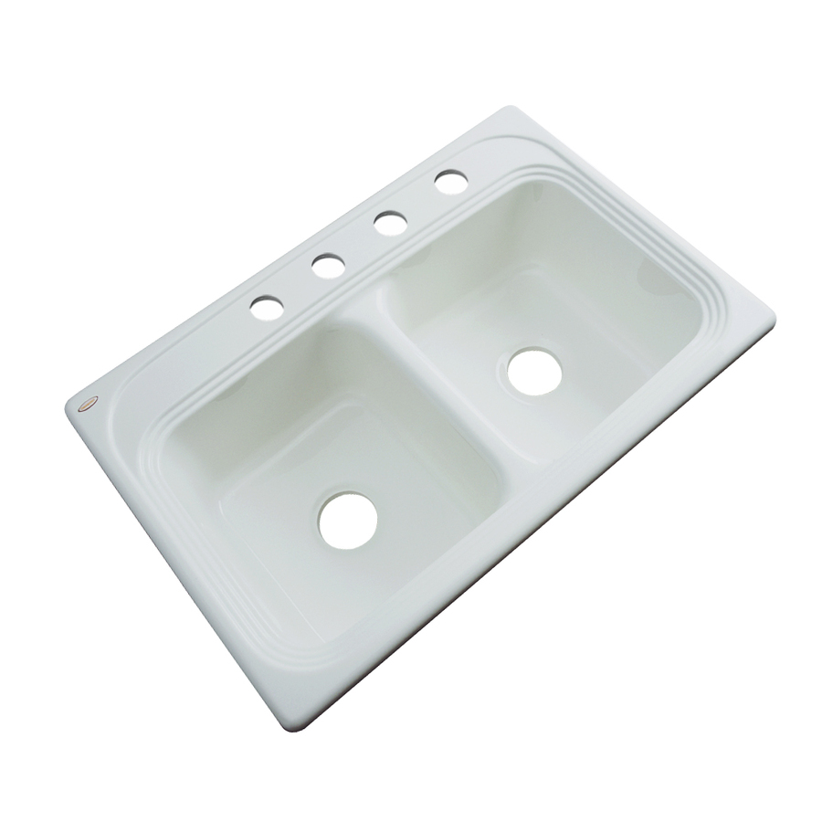 ... Dekor Master Double-Basin Drop-in Acrylic Kitchen Sink at Lowes.com