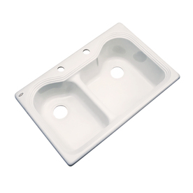 Dekor Double-Basin Drop-in Acrylic Kitchen Sink