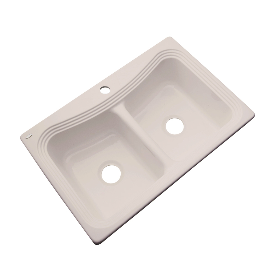 Shop Dekor Master Double-Basin Drop-in Acrylic Kitchen Sink at Lowes ...