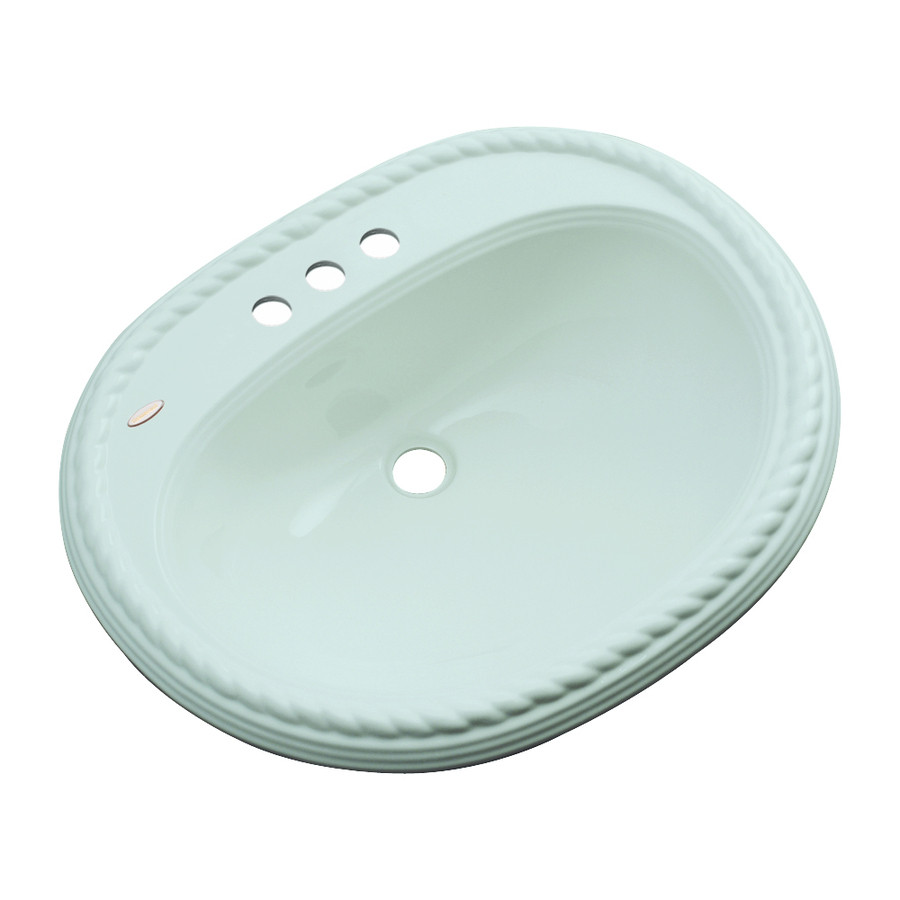 Oval Sink Bathroom : ... Composite Drop-In Oval Bathroom Sink with Overflow at Lowes.com
