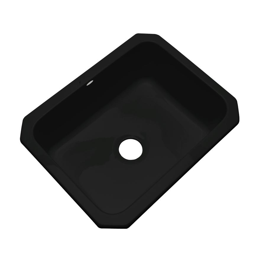 Shop Dekor Master Black Single Basin Undermount Kitchen