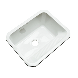Dekor 19-in x 25-in White Undermount Acrylic Laundry Utility Sink